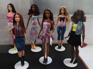 A collection of Barbie dolls