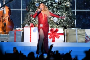 Carey performs onstage during her All I Want for Christmas Is You tour at Madison Square Garden, New York, in December 15, 2019.