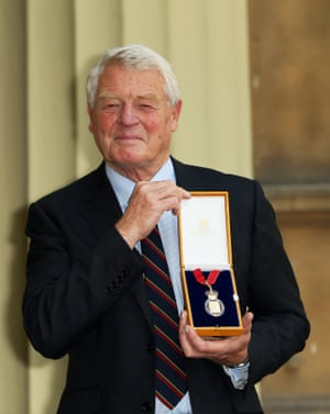 Ashdown after being awarded a Companion of Honour at Buckingham Palace in 2015.