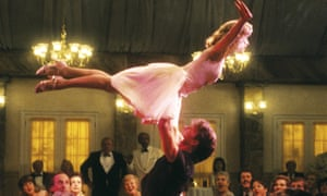 'We hated the movie until we heard your song' … Patrick Swayze and Jennifer Grey in the climactic scene.