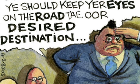 Steve Bell's If … Alex Salmond unveils a regal vision