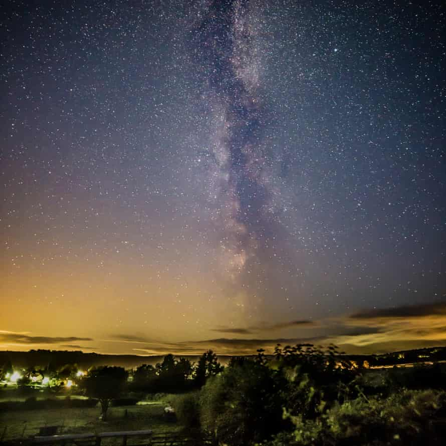Milky Way above Helmsley, Yorkshire, UK.