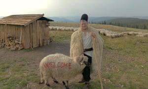 Gheorghe Dănulețiu, also known as Ghiță the shepherd, looks after 1,500 sheep in western Romania