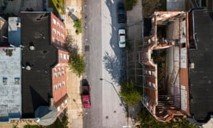 'Generations of black people have faced these challenges' … an aerial shot of West Baltimore.