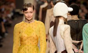 Fendi show, autumn-winter 2019, Milan fashion week.