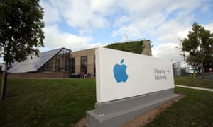 Apple said, however, that it still planned to expand its European headquarters, above, in County Cork.