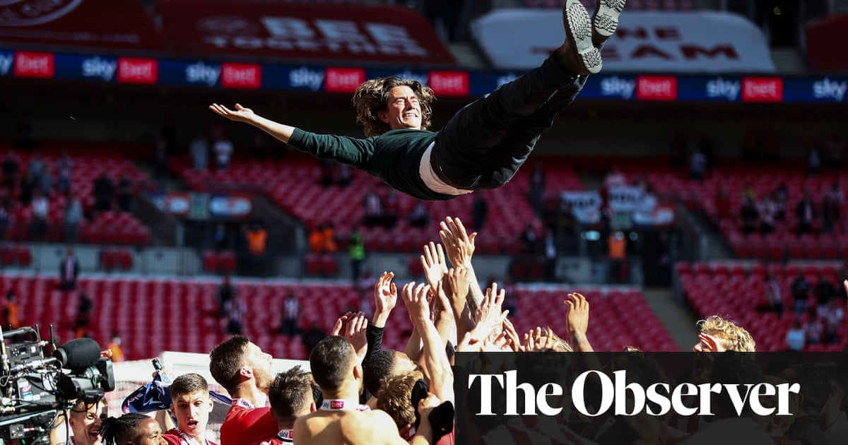 Thomas Frank hopes Brentford's promotion helps other clubs to dream