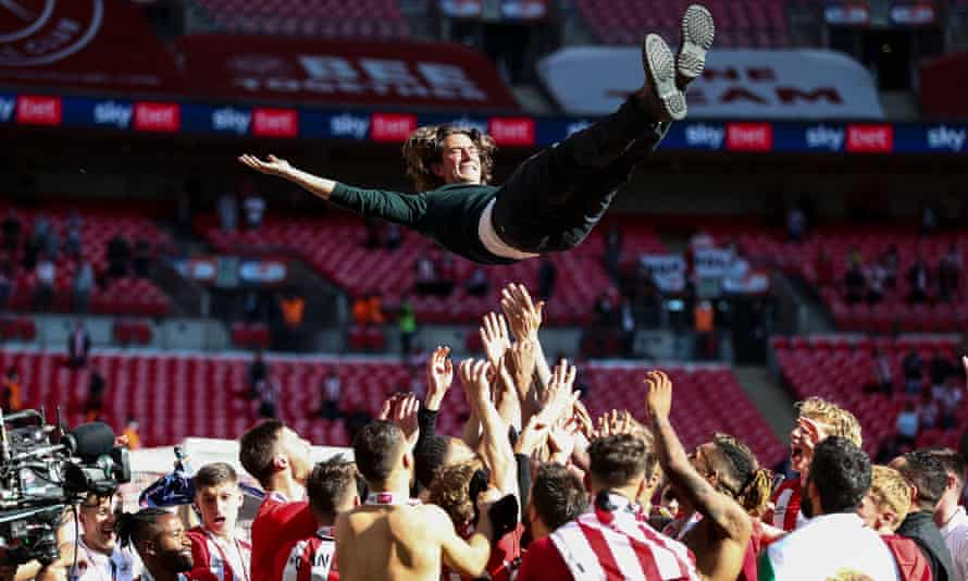Thomas Frank says of Brentford's 2-0 victory over Swansea at Wembley: 'There was pressure on us to do well.'