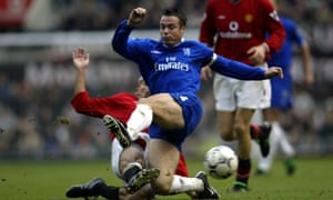 Graeme Le Saux playing for Chelsea