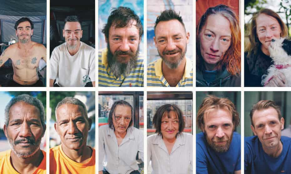 Recipients of Joshua Coombes's haircuts from top left: Adam in LA; Nathan in Brisbane; Lavane in London; Laurent in Paris; Emma in London; Yoel in San Francisco. All photographs by Joshua Coombes