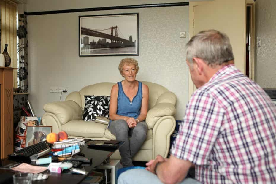 Ruth Chorley visits patient at home