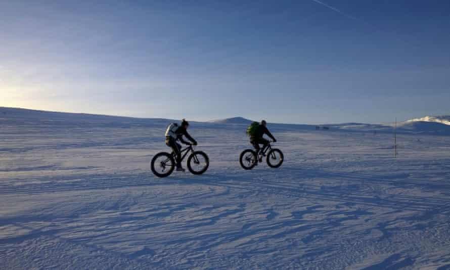 Fat biking, Geilo, Norway