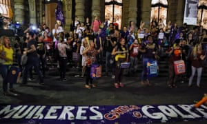 Women protest against the president of the Brazilian lower house Eduardo Cunha, Vice-President Michel Temer and Jair Bolsonaro in Sao Paulo last month.