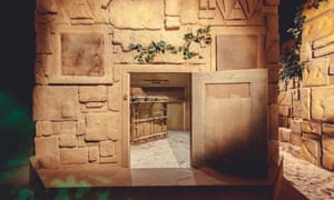 A set, part of the Aztec zone, from the Crystal Maze interactive game in London.