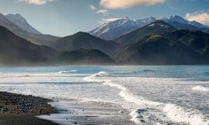 The Misty mountains, Kaikoura range, South Island, New Zealand.