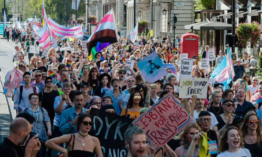 Thousands of transgender people and their supporters took part in London's first ever Trans Pride march last September.