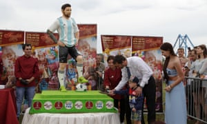A Lionel Messi cake at the 2018 World Cup