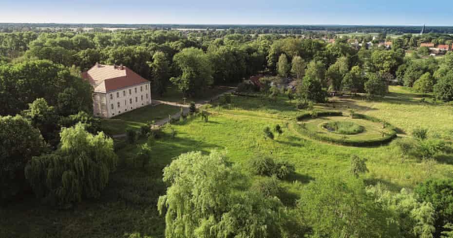 Aerial view of Schlossgut Schwante Sculpture Park