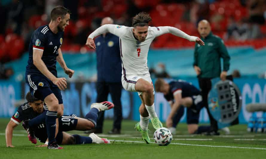 Jack Grealish in action against Scotland