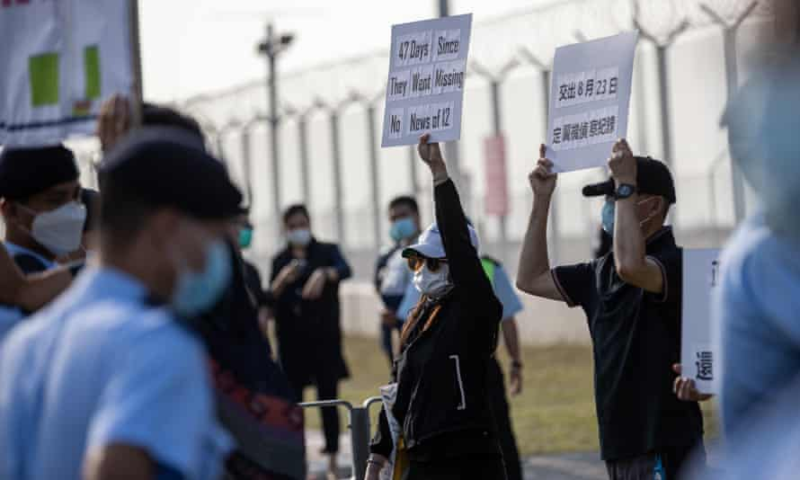 Relatives of the 12 Hong Kong activists, who are being detained in Shenzhen for allegedly crossing illegally into Chinese waters while trying to flee to Taiwan by boat, accuse Hong Kong of tracking the 12 and giving away their geographical position to the Chinese authorities in order to arrest them.