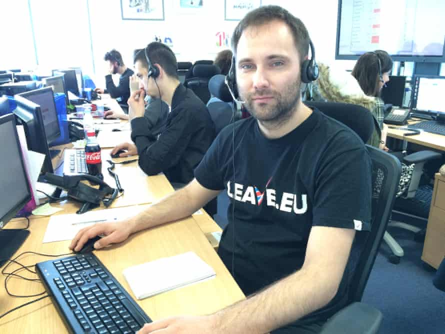 Rudolph Svat, a Slovakian hired by the Leave.EU campaign's call centre.
