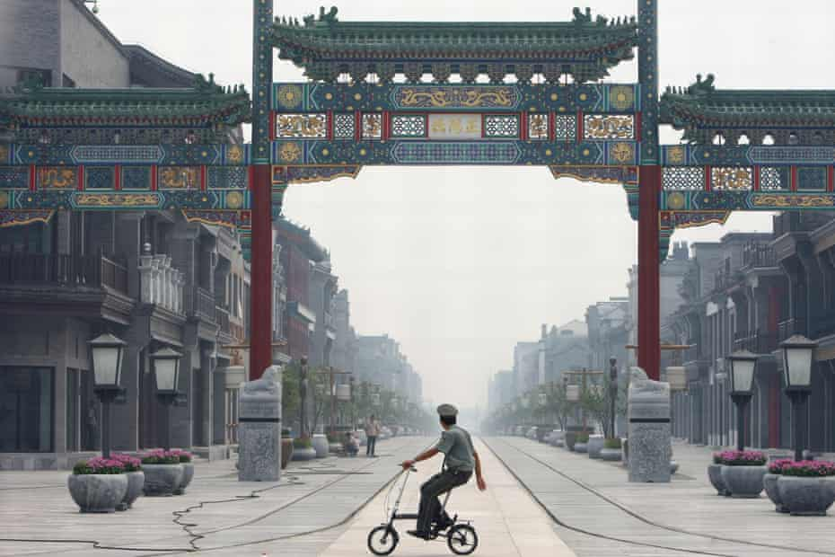 Qianmen Avenue, rebuilt in the style of the the Ming and Qing dynasties.