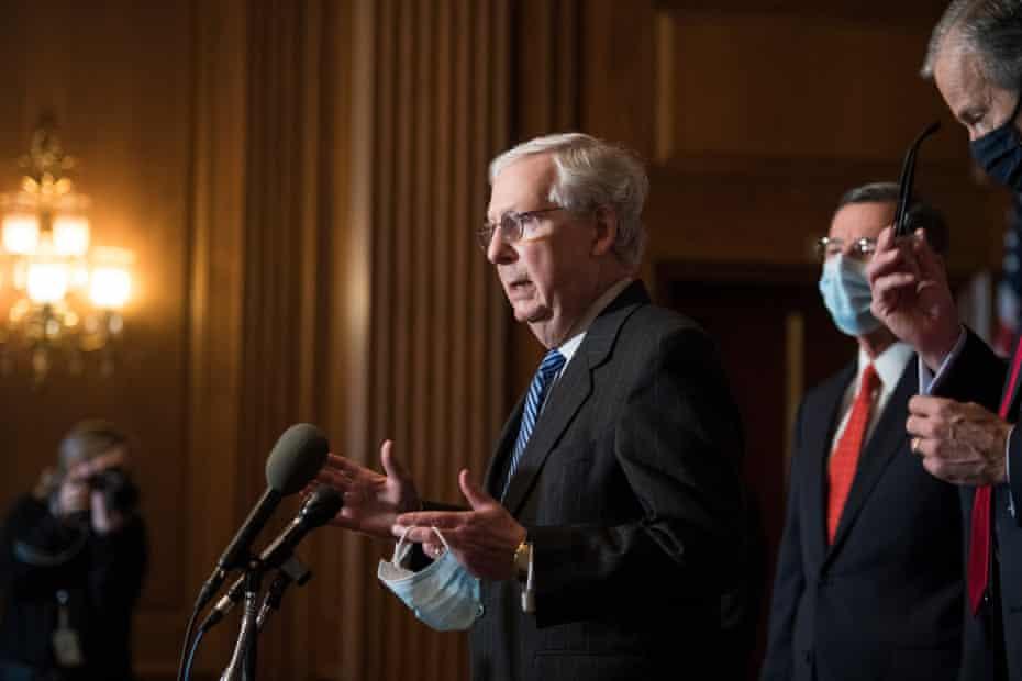 Mitch McConnell last week. Unlike Trump, the Senate majority leader has acknowledged Biden's election victory.