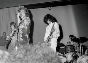 John Paul Jones, Robert Plant, Jimmy Page and John Bonham as The New Yardbirds, who went on to become Led Zeppelin. Copenhagen, Sep 7, 1968 – the band's first ever performance.