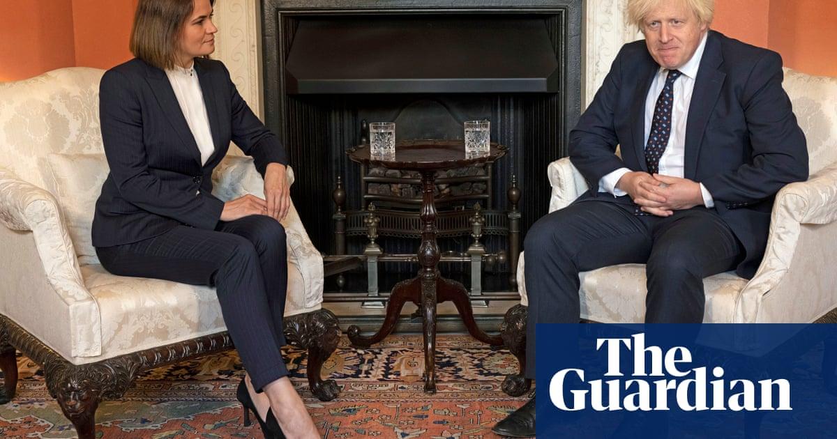 UK is on your side, Boris Johnson tells Belarus opposition leader