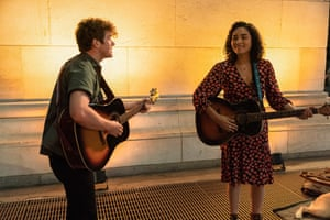 Colton Ryan and Brittany O'Grady in Little Voice: 'The show is about good people making mistakes says co-creator Sara Bareilles.