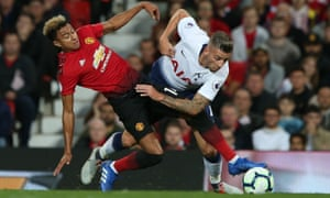 Toby Alderweireld tangles with Jesse Lingard during Tottenham's 3-0 win at Old Trafford on 27 August