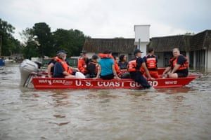 The Coast Guard rescues residents during the major 2016 floods in Baton Rouge, Louisiana.