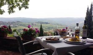 View from the terrace, Il Vescovino, Panzano, Italy