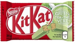 The Matcha KitKat, arriving in the UK very soon.