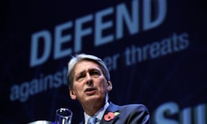 Chancellor Philip Hammond launching the government's new cybersecurity strategy.