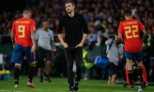 Luis Enrique shows his dejection at the final whistle