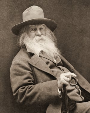 Walt Whitman with long grey beard
