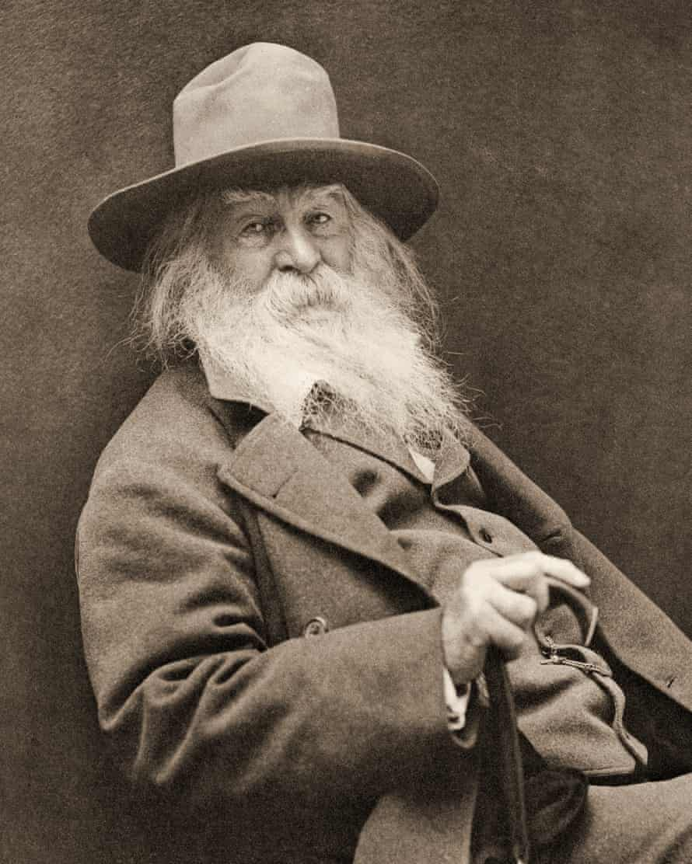 Walt Whitman with long grey beard