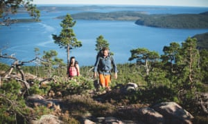 Hiking on the Swedish coast