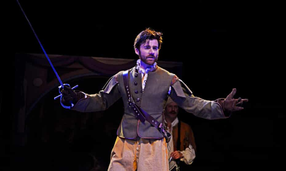 Young, charismatic and virile … Christian Edwards as Cyrano.