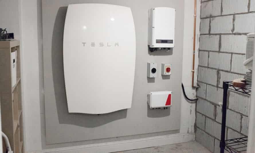A Tesla home battery