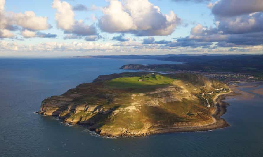 The Great Orme headland in north Wales