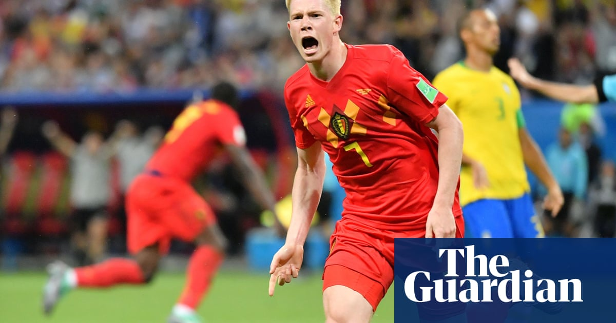 25f455e56ff Brazil knocked out of World Cup by Kevin De Bruyne and brilliant Belgium |  Football | The Guardian