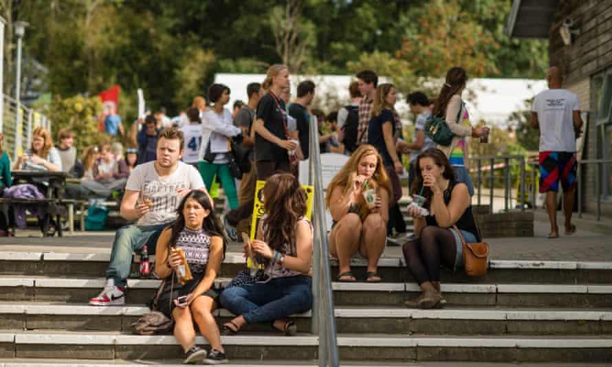 Aberystwyth University students on campus