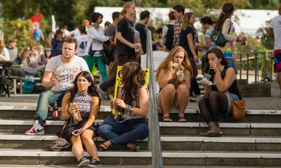 Students at Aberystwyth University.