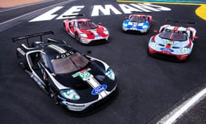 Start your engines: the four GTs together at Le Mans.