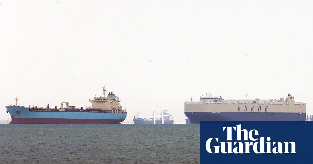 At least 20 livestock ships caught in Suez canal logjam - The Guardian