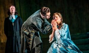 Clint van der Linde (Cesare) and Susanna Hurrell (Cleopatra) in ETO's Giulio Cesare.