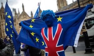 Anti-Brexit Campaigners Protest Outside Parliament
