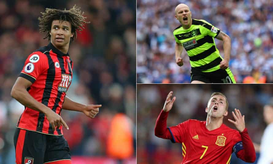 Nathan Aké, left, Aaron Mooy, top-right, and Gerard Deulofeu are all returning to clubs they have played for before.